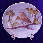 SALE Alboth & Kaiser Hand Painted Plate, Bird on a Limb Design, Artist Signed and Marked ...