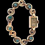 Vintage Art Deco Danish Ladie's 14k Yellow Gold Jules Jurgensen Swiss Watch w/ Deco ...