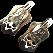Art Deco Sterling Silver Watson Putnam pattern c1920 Napkin Clips