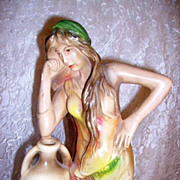 "SOLD ON Hold-Vintage Plaster Lady Statue ""Rebecca"""