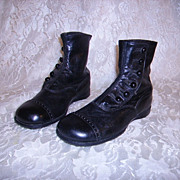 SOLD Victorian Edwardian Childs High Top Button Up Shoes