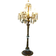 "Magnificent 52"" Candelabra Chandelier Lamp Crystal Prisms"