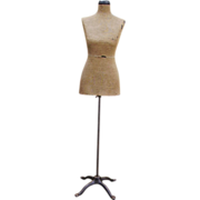 SOLD Early 1900 Dress Form Mannequin Tiny Waist