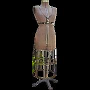 SOLD Antique Victorian Dress Form Mannequin Metal Cage Skirt