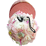 SOLD Fabulous Vintage Floral Flowers Hand Muff 1950's Original Box