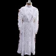 Victorian Lawn Dress c.1900 Excellent