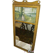 Antique French Trumeau Mirror Dated 1902 The Ullman Company