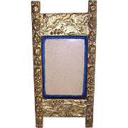 Lovely Victorian Gilt Gesso and Velvet Picture Frame