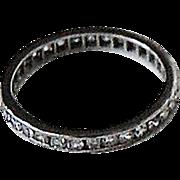 Vintage Diamond ETERNITY BAND - 14K White Gold, c1920