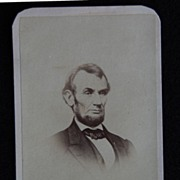 Carte De Viste Photograph - ABRAHAM LINCOLN / Revenue Stamp / Phila