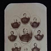 Carte De Viste Photograph - CIVIL WAR GENERALS / General Winfield Scott