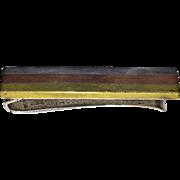 Vintage Mexican LOS CASTILLIO - MONEY CLIP (Mixed Metal Striped Mexican Sterling, Copper, Bras