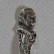 Antique Sterling POLITICAL SOUVENIR Spoon (President Grover Cleveland - Inauguration)