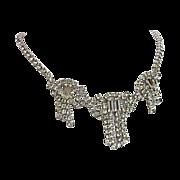 REDUCED Splendid Art Deco Tasseled Waterfall  Necklace
