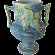 Roseville Blue Bushberry Vase #156-6