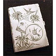 1881 Victorian Aesthetic Aides-Mémoire Sterling Necessaire