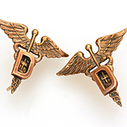 WWII Medical Army Officer Insignia Dentistry Corps by Amico, World War II Dentist, Vintage ...