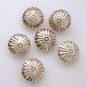 Matched Set of 6 Native American Sterling Buttons