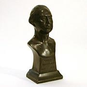 George Washington 1932 Bicentennial Pot Metal Bust by Almar Metal Arts