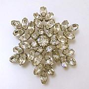 Rare Signed Lilly Dache Rhinestone Starburst Pin