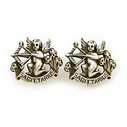 Cini Sterling Clip Earrings Zodiac Sagittarius Cherubs Bows & Arrows