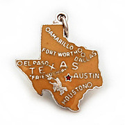 Danecraft Sterling Enamel State of Texas Charm