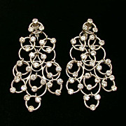 Signed Vogue Jewelry Large Dangling Circles Earrings