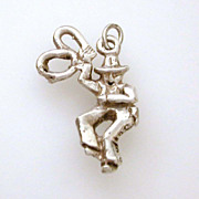 Whimsical Cowboy with Lasso Sterling Charm