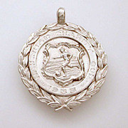 1934 Thomas Fattorini Sterling Soccer Football Pocket Watch Fob
