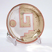 SOLD RESERVED Signed Los Castillo Abstract Dish Sterling Copper Brass