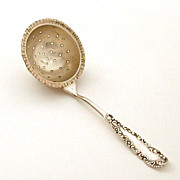 Sterling Over Cup Tea Strainer Deep Gilded Bowl