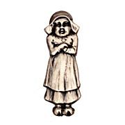 Antique Blackinton Sterling Bib Clip Petulant Dutch Girl