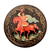 Tianex Russian Lacquer Hero on Horse Pin