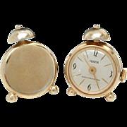 Swank Alarm Clock Wrist Watch Cufflinks