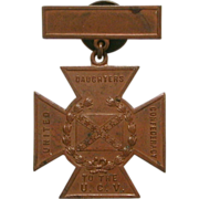 Civil War United Daughters To The Confederacy Southern Cross of Honor Bronze Medal by Whitehea