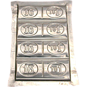 1896 Presidential Race WILLIAM JENNINGS BRYAN 16:1 Chocolate Candy Mold - White House Presiden