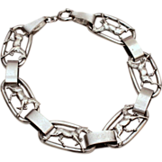 circa 1920 Show Horses with Bobbed Tails Sterling Bracelet
