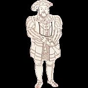 """5.5"""" Sterling Bookmark Full Figure King Henry VIII"""