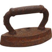 Antique Miniature Sad Iron Salesman Sample - Use as Paperweight, Doll House Accessory