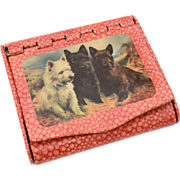Circa 1930 Cigarette Box Case Germany Scottish Terrier, Scottie Scotty Dogs, Westie, West High