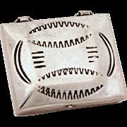 Navajo Sterling Silver Small Box, Native American Indian Pill Box