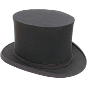 KNOX of Fifth Ave. Collapsible Black Silk Top Hat, approx Size 7 3/8
