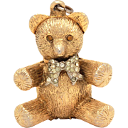 Teddy Bear Solid Perfume Compact & Necklace Pendant by Max Factor
