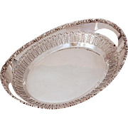 Barker Ellis Bread Basket, Pierced Silverplate Serving Piece, Vintage Ornate Silver Plate, Ell