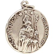 Creed Sterling Catholic Medal St. Patrick and Saint Bridget, Pray For Us, Reversible Prayer Me