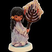 DeGrazia Goebel Festival of Lights, Vintage Hanukkah Menorah, Jewish Figurine, Judaica Goebel,