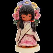 1983 DeGrazia Flower Girl, Figurine Goebel Degrazia, Southwest Style Wedding Flower Girl, Etto