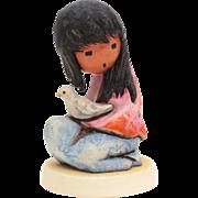 The White Dove DeGrazia Goebel Figurine, American Impressionist Ettore Ted DeGrazia, Native Am