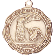 Medal by Weyhing Bros. Detroit, National Federation of Business and Professional Women's Clu