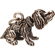 Sterling Puppy Dog Bracelet Charm Head Moves, Movable Cocker Spaniel